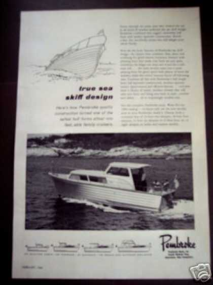 Pembroke Sea Skiff Cruiser Boat Photo (1964)