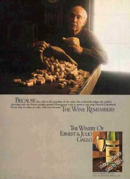 """The Wine Remembers"" Ernest & Julio Gallo (1980)"