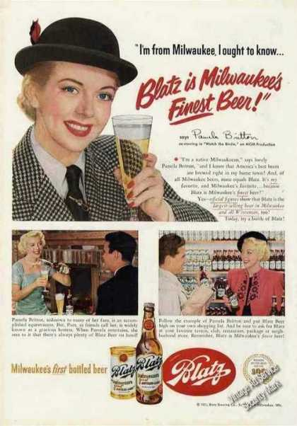 Pamela Britton Photos Blatz Beer (1951)