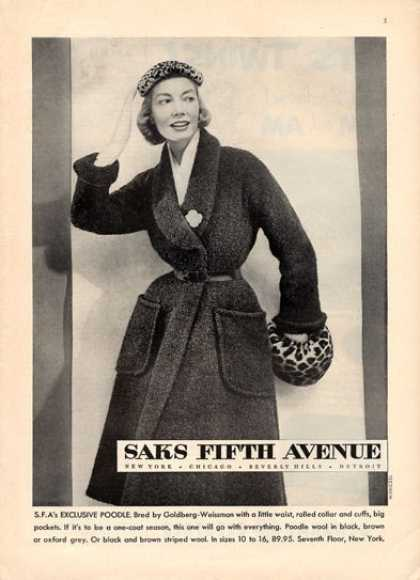 Saks Fifth Av Goldberg Weissman Fashion (1951)