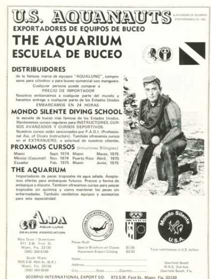 Us Aquanauts Diving School the Aquarium (1974)