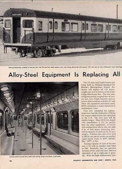 """Replacing Existing Cars On Mta..."" Article/boston (1963)"