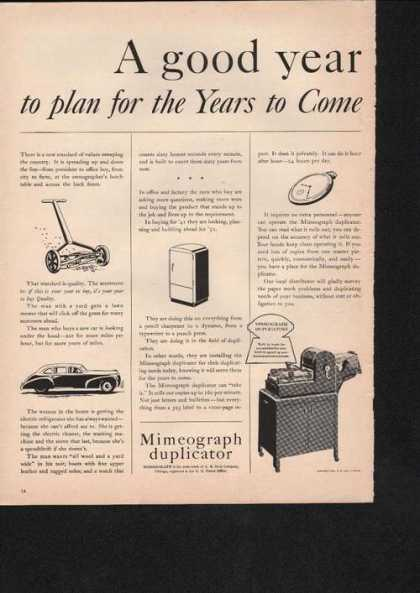 Mimeograhp Dulicator Machine (1941)