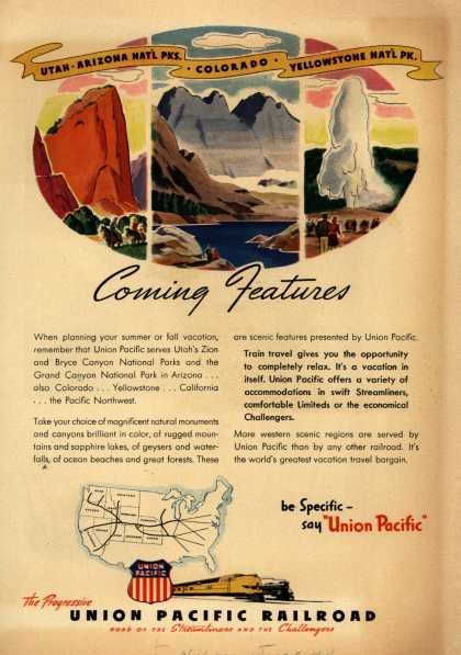Union Pacific Railroad's Vacation Travel – ...Coming Features (1946)