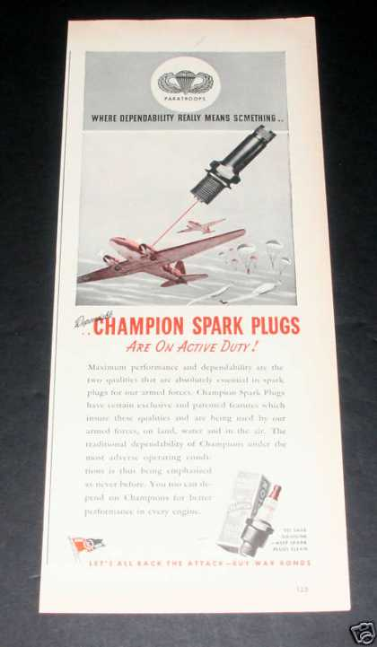 Champion Spark Plugs, Active Duty (1944)