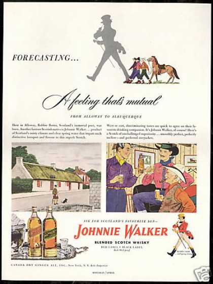 Johnnie Walker Scotch Alloway Albuquerque (1948)