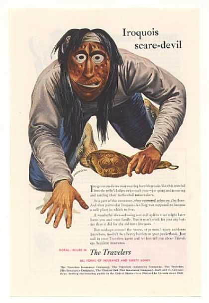 Iroquois Scare-Devil Medicine Man The Travelers (1952)