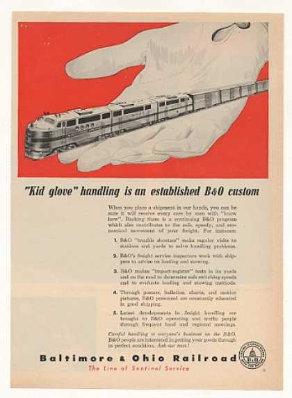 Baltimore & Ohio Railroad B&O Train Kid Glove (1953)