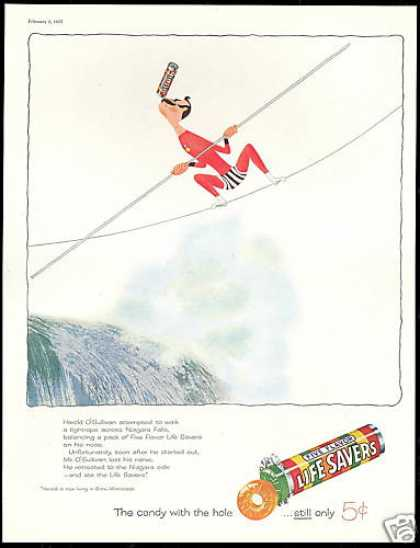 Niagara Falls Tightrope Life Savers Candy (1957)