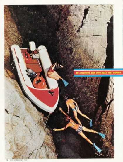 Bonair Inflatable Dive Scuba Boat Test Article (1972)