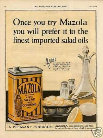 Mazola Cooking Oil Color (1925)