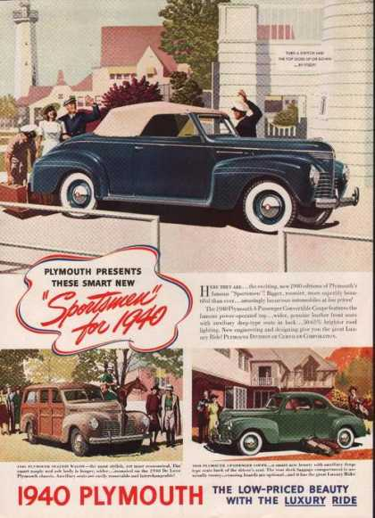 1940 Sportsmen Luxury Ride Plymouth Car (1939)