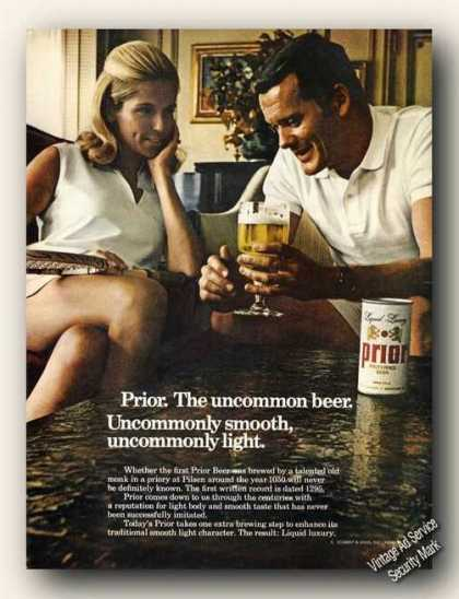 Prior the Uncommon Beer Liquid Luxury Advertising (1968)