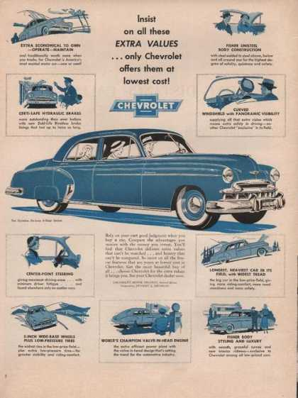 Insist On All These Extra Values Chevrolet (1949)