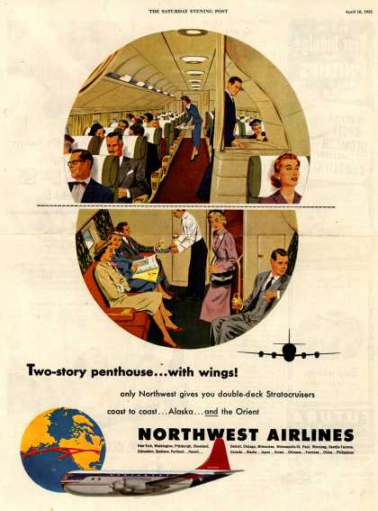 Northwest Airlines – Two-story... with wings (1953)