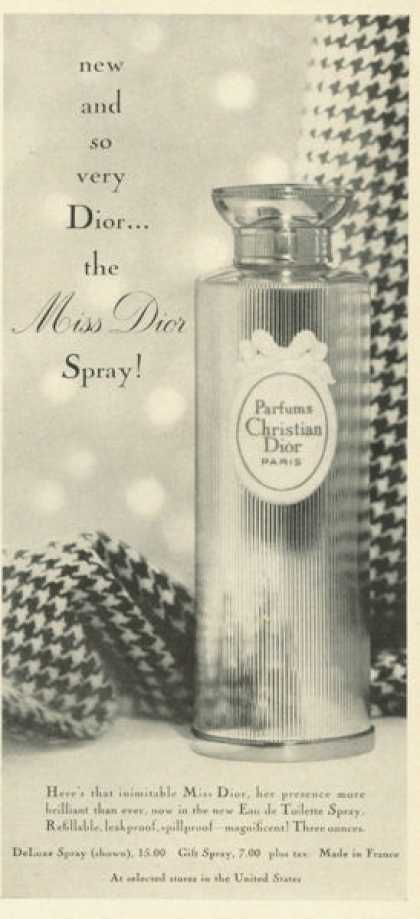 Christian Dior Miss Perfume Bottle (1961)