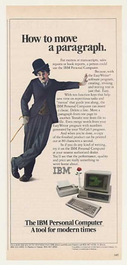 IBM PC Computer Easy Writer Little Tramp (1982)