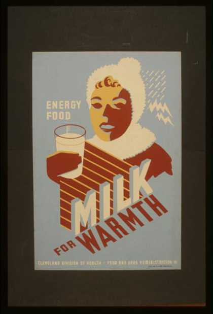 Milk – for warmth – Energy food. (1941)