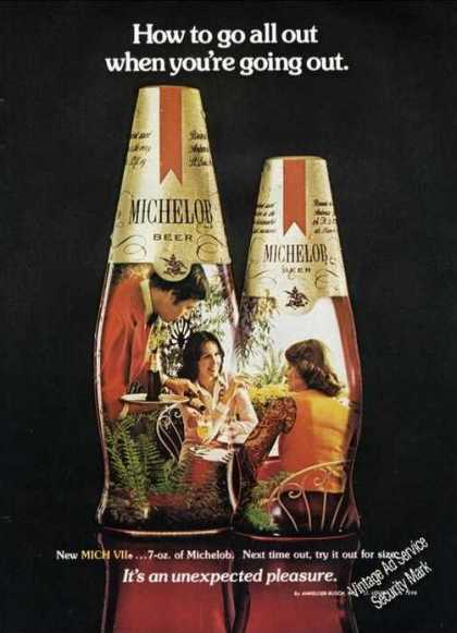 Michelob 7-oz How To Go All Out Going Out (1975)