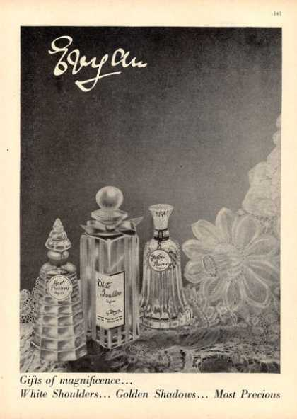 Evyan Perfume Bottles Golden Shadows + (1952)