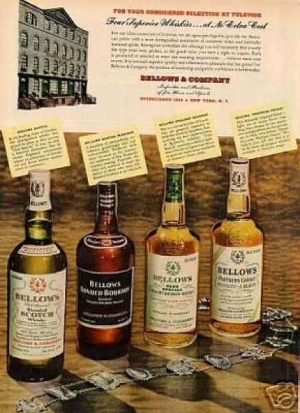 Bellows & Company Whiskey (1951)