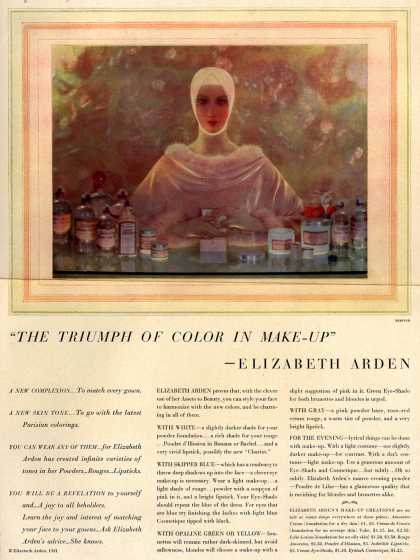 "Elizabeth Arden – ""The Triumph Of Color In Make-Up"" -Elizabeth Arden (1931)"