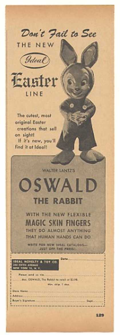 Ideal Toy Walter Lantz Oswald the Rabbit Trade (1946)