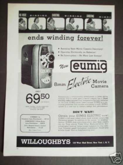 Eumig 8mm Movie Camera Photography Original (1957)