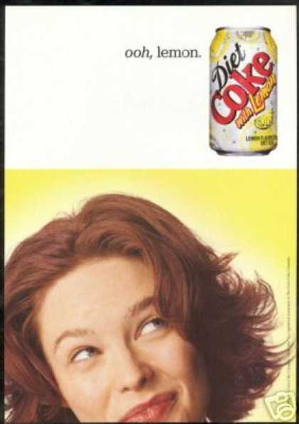 Diet Lemon Coke Coca Cola Can (2002)