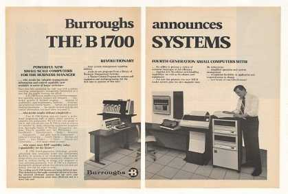 Burroughs B1700 B 1700 Computer System (1972)