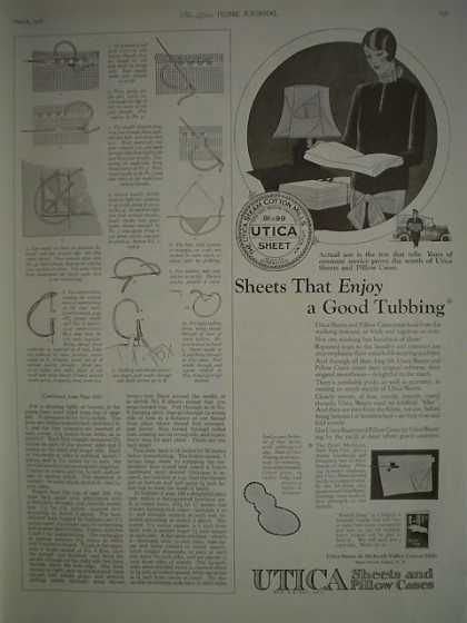 Utica Sheets Pillow Cases AND Endicott Johnson Shoes (1926)