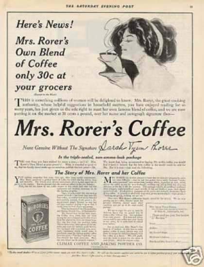 Mrs. Rorer's Coffee (1910)