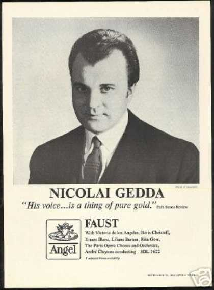 Nicolai Gedda Photo Opera Faust Vintage Record (1965)