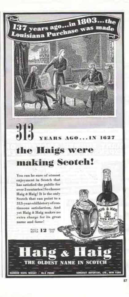 Haig & Haig Whisky – Sold (1940)