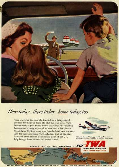 Trans World Airline's Business Travel – Here today... there today... home today, too (1952)