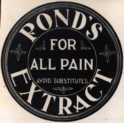 Pond's Extract Co.'s Pond's Extract – Pond's Extract For All Pain (1897)