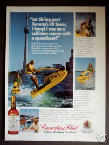 Cn Tower Toronto Jet Ski Photo Canadian Club (1976)