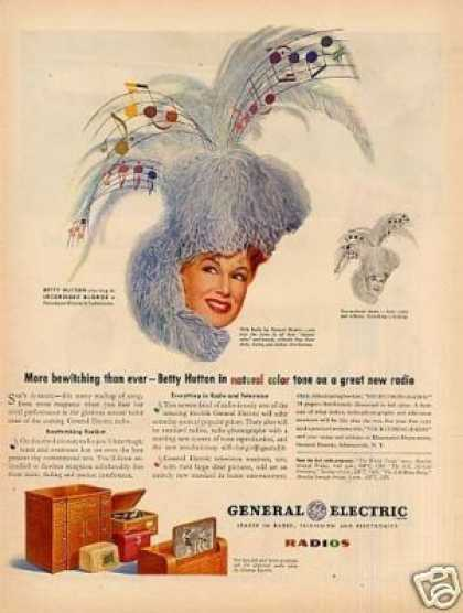 General Electric Radio Ad Betty Hutton (1945)