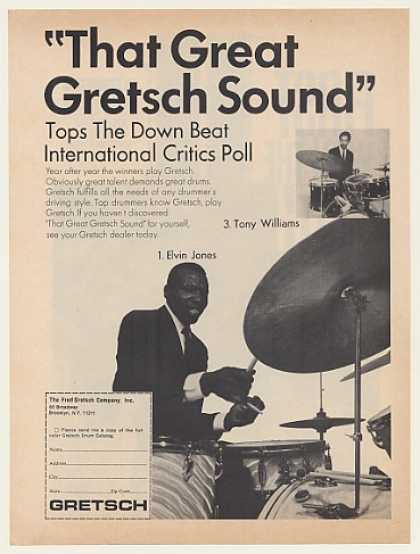 Elvin Jones Tony Williams Gretsch Drums (1970)