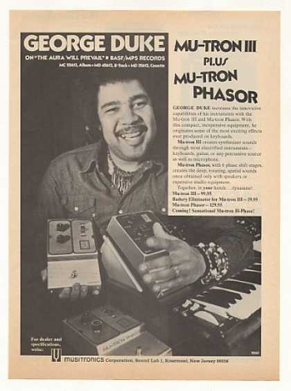 George Duke Mu-Tron III Phasor Photo (1975)