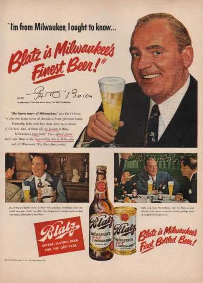 Pat O'brien for Blatz Beer (1949)