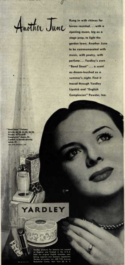 Yardley of London's Bond Street Cosmetics – Another June (1945)