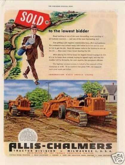 Allis-chalmers Tractor Ad Model Hd-19 (1949)