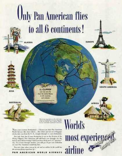 Only Pan American Flies To All 6 Continents (1948)