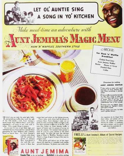 Aunt Jemima's Magic Menu