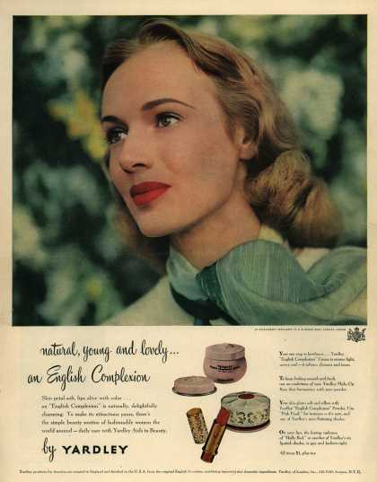 Yardley of London's Various – natural, young and lovely...an English Complexion (1948)