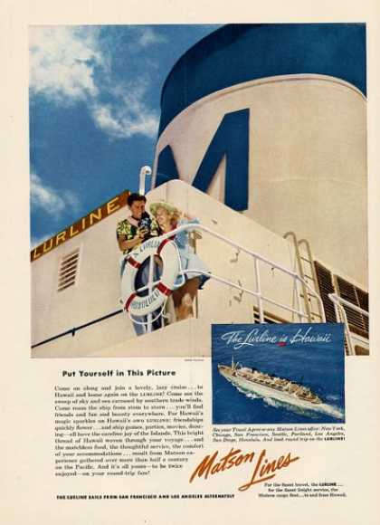 Matson Cruise Boat Hawaii Lurline (1953)