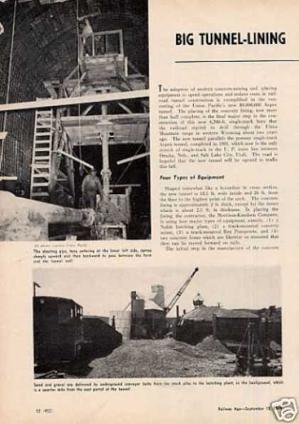 """Big Tunnel Lining Job Fully Mechanized"" Up (1949)"