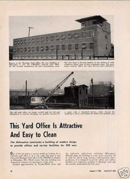 """This Yard Office Is Attractive..."" Article/milw (1952)"