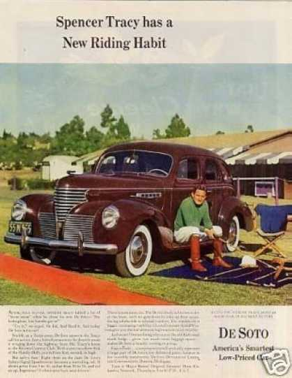 Desoto Car Color Ad Spencer Tracy (1939)